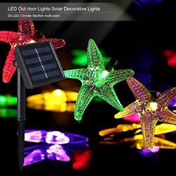 16ft Outdoor Strings Solar Light Starfish Shaped 20 LED for Xmas Party Home Lawn