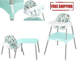 Evenflo 4 in 1 Eat amp; Grow Convertible High Chair Poppy Floral Free Shipping $54.99