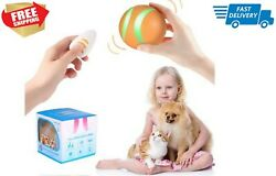 Smart Interactive Pet Toy Bounce ORANGE Ball for Dog Cat with Remote Control