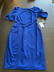Vince Camuto Blue Dress Size Small 6 Womens New NWT Bodycon A line