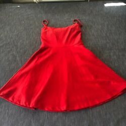 Lulus red short cocktail dress with spaghetti straps women#x27;s XS $15.51