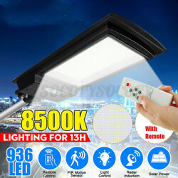 936LED Commercial LED Solar Street Light Remote Motion Sensor Dusk to Dawn