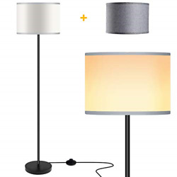 Floor Lamps for Living Room with 2 Lamp Shades LED Modern Standing Lamp Simple $48.48
