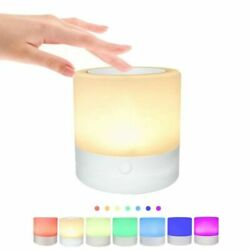 LED Touch Sensor Dimmable Table Lamp Room Bedside Night Light USB Charging Home $10.69