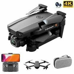 Drone Camera 4k Hd Fpv Wifi Dual Rc Quadcopter New Wide Angle Foldable 2021 Self $69.00
