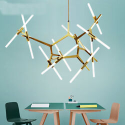 Industrial Modern Metal Glass Branch Chandeliers Lighting Pendant Ceiling Light $128.79