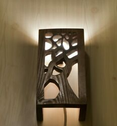Wood wall lamp Natural wall sconce Handmade lamps Bedside lamp Wooden lighting $77.00
