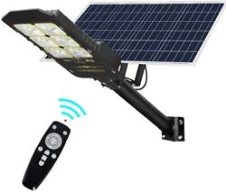 12000LM Solar LED Street Light Commercial Outdoor IP66 Area Security Road Lamp