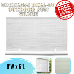 Cordless Roll Up Blind Sun Shade Outdoor Patio Deck UV Protection Window Privacy $50.43