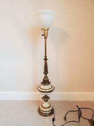Classic Mid Century Hollywood Regency Stiffel Torchiere Table Lamp $100.00