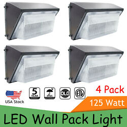 LED Wall Pack with Dusk to dawn Photocell 4PCS 125W Outdoor Commercial Lighting