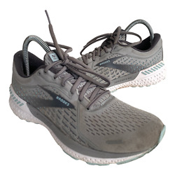 Brooks Ghost 12 Womens Size 9 Gray Athletic Trail Running Walking Shoes Sneakers $39.95