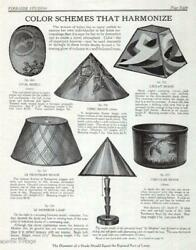 Antique Arts amp; Crafts Lamp Shades 1928 Catalog AD Nouveau Art Interior Design $18.99