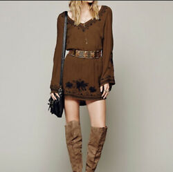 Free People Skyfall Gauze Bohemian Dress XS $39.99
