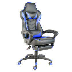 Foldable C type Nylon Foot Racing Chair with Footrest Blue amp; Black $162.95