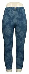 Legacy Leggings Sz 2XS Printed Cropped Denim Blue A377866 $23.99