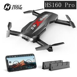 Holy Stone Selfie Foldable Drone HS160 Pro with 1080P Camera App Control Wifi $69.99