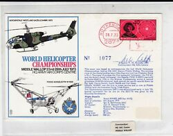 GB 1973 World Helicopter Championships Middle Wallop Pilot Signed Cover VGC GBP 1.65