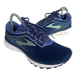 Brooks Ghost 12 Womens Size 8 Blue Athletic Running Walking Shoes Sneakers $38.95