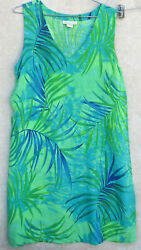 Sleeveless Summer Hawaiian Aloha Beach Dress XL Pineapple Cove $19.99