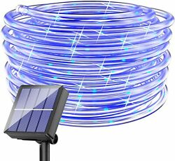 Solar LED Rope Fairy String Lights Hanging Decor Outdoor for Patio Garden Yard