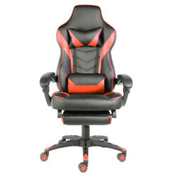 C type Foldable Nylon Foot Racing Chair with Footrest Black amp; Red $169.00