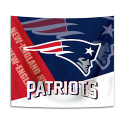 New England Patriots Tapestry Wall Hanging Cover Home Decor 50quot; x 60quot; $10.95
