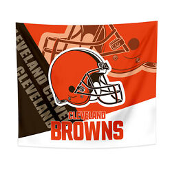 Cleveland Browns Tapestry Wall Hanging Cover Home Decor 50quot; x 60quot; $10.95