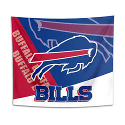 Buffalo Bills Tapestry Wall Hanging Cover Home Decor 50quot; x 60quot; $10.95
