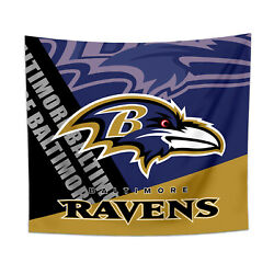 Baltimore Ravens Tapestry Wall Hanging Cover Home Decor 50quot; x 60quot; $10.95