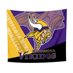 Minnesota Vikings Tapestry Wall Hanging Cover Home Decor 50quot; x 60quot; $10.95