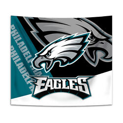Philadelphia Eagles Tapestry Wall Hanging Cover Home Decor 50quot; x 60quot; $10.95