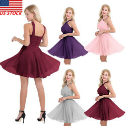 Women#x27;s Short Dress Evening Formal Cocktail Party Bridesmaid Prom Gown #4 16 $5.25