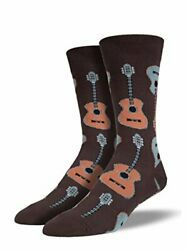 Socksmith Guitars Novelty Socks country brown green music tunes cotton blend $9.99