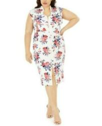 Crave Fame Trendy Plus Size 3X Women Floral Print Bodycon Dress $25.00