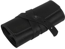 Leather Watch Roll Travel Organizer Holds 3 4 5 Slots Black Women Gift $19.25