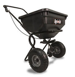 Fertilizer Spreader Broadcast Seed Lawn Pneumatic Tires 85 lb. Push Hopper $73.99