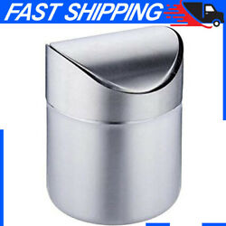 Mini Trash Can for Desk with Lid Desktop Trash Can Small Tiny Countertop Bin Can $15.11