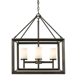 Golden Lighting 2073 4 OP Smyth 4 Light 1 Tier Chandelier Bronze $265.99