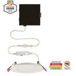 Commercial Electric Ultra Slim 4 in. Color Selectable New Construction