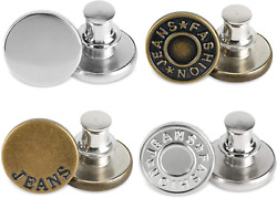 Premium Jean Button,Adjustable Button Pins for Jeans,Removable and Reusable Meta $5.97