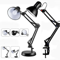 Architect Desk Lamp Swing Arm Drafting Light W Metal Clamp Vintage Work Office $22.92