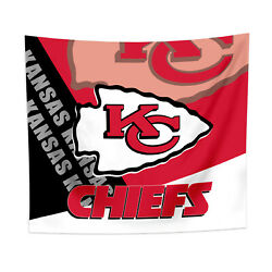 Kansas City Chiefs Tapestry Wall Hanging Cover Home Decor 50quot; x 60quot; $10.95