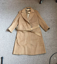 Brooks Brothers Beige Long Women#x27;s Coat Size Small or Medium $60.00