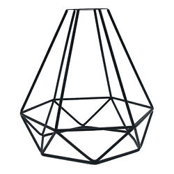 Vintage Metal Guard Pendant Light Bulb Hollow Cage Ceiling Hanging Lampshade $15.19