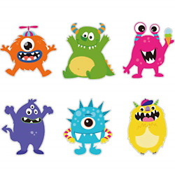 24 Pieces Monster Party Cutouts Little Colorful Monster Cutouts Party for Girls $10.41