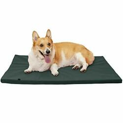 Pet Water Repellent Low Profile Dog amp; Orthopedic Large Green Gray Kennel Pad $38.26