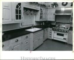1992 Press Photo Residential Home Kitchen with Decorative Cabinets syp31785 $15.88