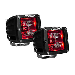 Rigid 20202 Universal Radiance Pod LED with Red Backlight 2 Piece Set 3quot;x3quot; 15V $164.99