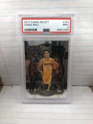 Lonzo Ball 2017 Panini Select Rookie RC #161 premier PSA 9